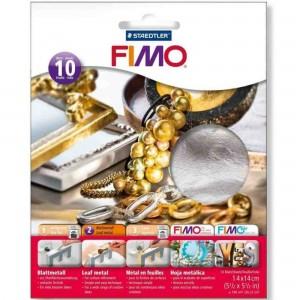 Fimo foite metal argintiu 14X14, 10 buc/set STH-8781-81
