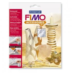 Fimo foite metal argintiu14X14 cm, 7 Buc/Set STH-8780-81