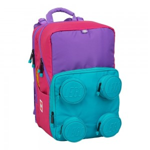Ghiozdan scoala Petersen LEGO Core Line design Brick 2x2 roz/ violet LG202092108