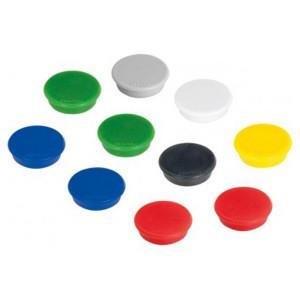 Magneti Alco 24MM 10/cutie diverse culori AL-6828