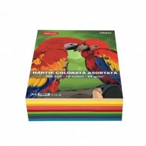 Hartie colorata  A4 80gr/mp, 500coli/top 10 culori Daco HR802