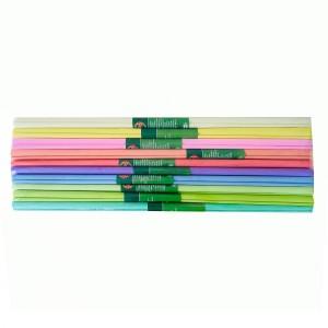 Hartie creponata asortata 50x200 cm Koh-I-Noor Mix Pastel, 10 culori/set K9755-39
