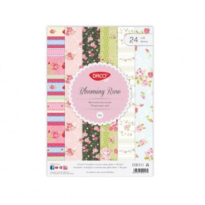 Hartie decorativa A4 Daco blooming rose HR931