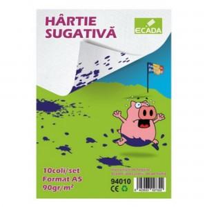 Sugativa alba A5 10coli /set Ecada 94010