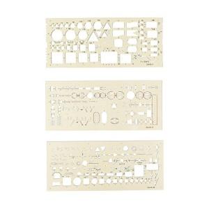 Sablon special intalatii electro 120x210mm 3buc/set Koh-i-Noor K703071