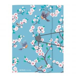 Dosar mapa A4 PP inchidere cu elastic Ladylike birds 50021581