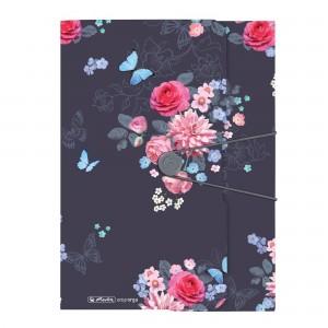 Dosar mapa A4 PP inchidere cu elastic Ladylike flowers 50021598