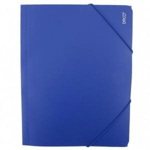 Mapa A4 Plastic cu elastic albastru Daco MP250A