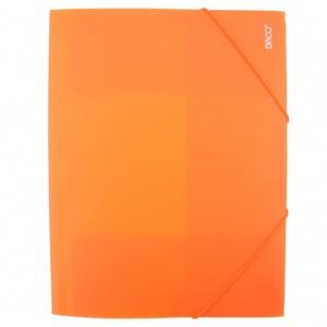 Mapa A4 Plastic cu elastic portocaliu Daco MP250P