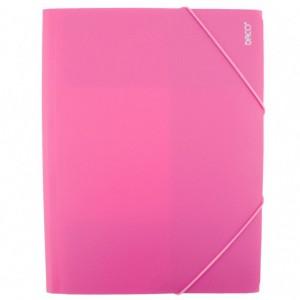 Mapa A4 Plastic cu elastic roz Daco MP250RZ