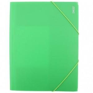 Mapa A4 Plastic cu elastic verde deschis Daco MP250VD