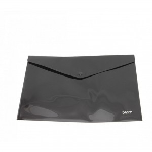 Mapa A4 plastic plic cu capsa negru Daco MP120N