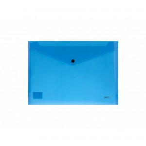 Mapa A4 plastic plic cu capsa albastru Daco MP120A