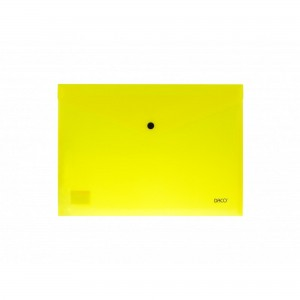 Mapa A4 plastic plic cu capsa galben Daco MP120G