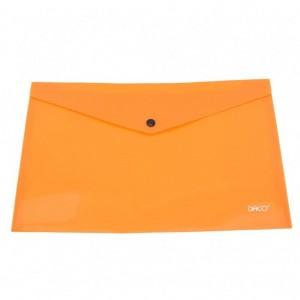 Mapa A4 plastic plic cu capsa portocaliu Daco MP120P