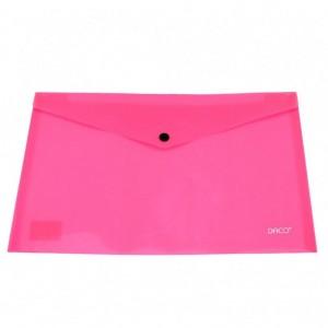 Mapa A4 plastic plic cu capsa roz Daco MP120RZ