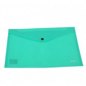Mapa A4 plastic plic cu capsa verde Daco MP120RV