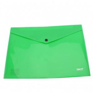 Mapa A4 plastic plic cu capsa verde deschis Daco MP120VD