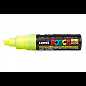 Marker Uni PC-8K  Posca 8.0 mm varf tesit galben fluorescent M646