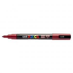 Marker Uni PC-3M Posca 0.9-1.3 mm rosu inchis M1198