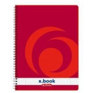 Caiet A4 160 file cu spira matematica Herlitz X.Book 11163946