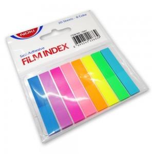 Index adeziv plastic 8x45 mm set 8 culori/set Noki NK12401