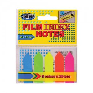 Notes Adeziv 45x12mm 5culx25 file neon 83506