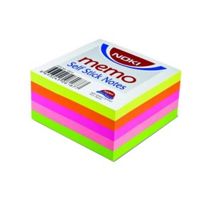 Notes adeziv Noki 76x76mm 5 culori neon 400F NK12012