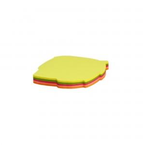 Notes adeziv forma frunza, 75x75mm, 5 cul.neon x 20coli, 100 coli/bl. N104