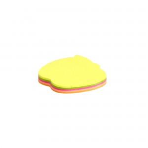 Notes adeziv forma Mar, 75x75 mm,5 cul.neon x 20coli, 100 coli/bl.