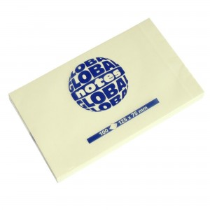 Notes adeziv 125 x 75mm galben pal Global Notes E587