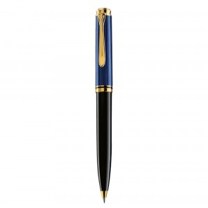 Pix Pelikan Souveran K600 placat cu aur corp negru-albastru 988378