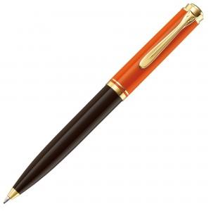 Pix Pelikan Souveran K800 placat cu aur corp negru-orange 987835