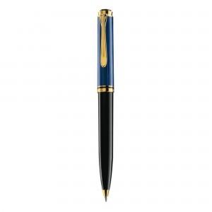 Pix Pelikan Souveran K800 placat cu aur corp negru-albastru 987842