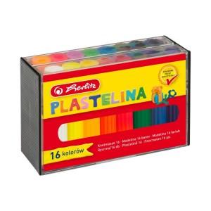 Plastilina Herlitz 16 culori/ cutie 9562935