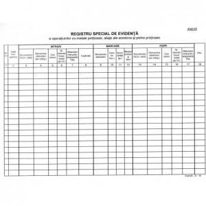Registru metale pretioase coperta balacron 860