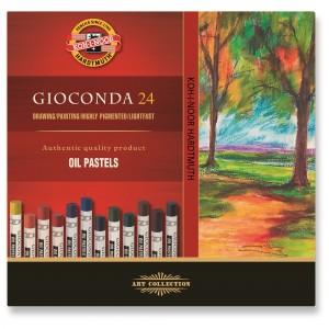 Set creta uleioasa rotunda Gionda Koh-I-Noor 24 culori/set  K8354-24