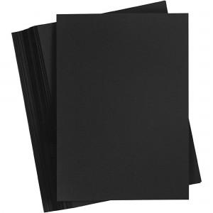 Carton A4 color 180gr/mp negru Favini CARTON180N
