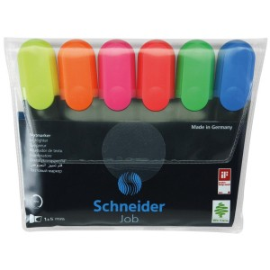 Set textmarker Schneider job 6 culori/set 3038