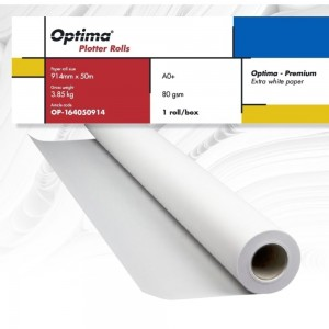 Rola plotter A0+, 914 mm x 50 m, Optima Premium OP164050914
