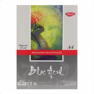 Bloc A4 acril300gr 10 file Daco BD431