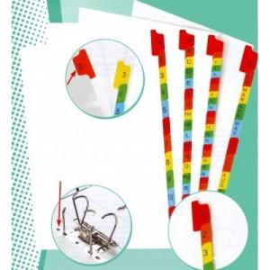Separatoare carton color numere 1-10 E852