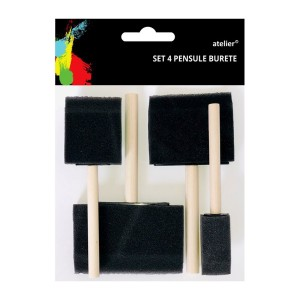 Set 4 pensule burete Atelier late AT906