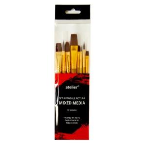 Pensule Atelier multimedia 8buc/set AT20023
