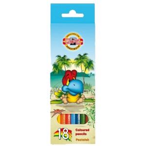 Creioane colorate Koh-I-Noor 18/set Lumea Pasarilor K3553-18P