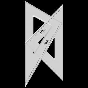 Rotring set 2 echere 45° si 60° 20/30 cm si 32/37 cm, S0237870