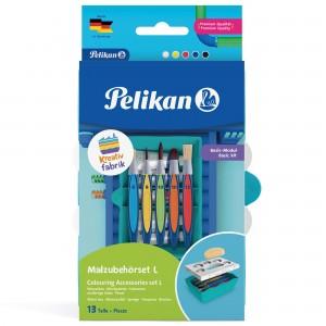 Set accesorii pictura Pelikan Kreativ Fabric,13 piese/set 816977