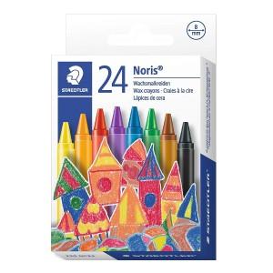 Creioane colorate cerate 8mm Staedtler Noris 24 culori / set ST-220-NC24