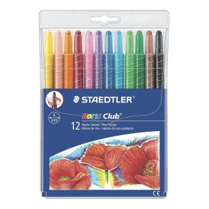 Creioane colorate cerate 12 culori / set Twister Staedtler ST-221-NWP12