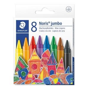 Creioane colorate cerate 11mm Staedtler Noris Jumbo 8/set ST-229-NC8